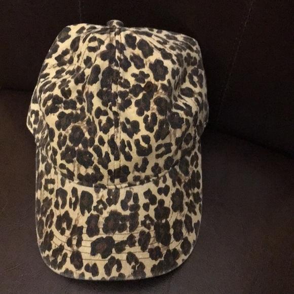 e1066f877 Leopard print baseball hat NWT